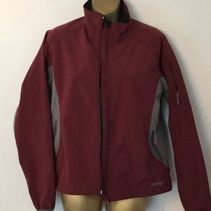 hi tech fall jacket maroon grey size medium